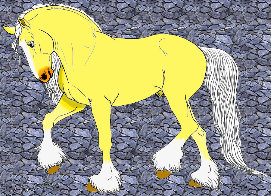 my new shire horse Marvin by Wolfs-Rain-Jono
