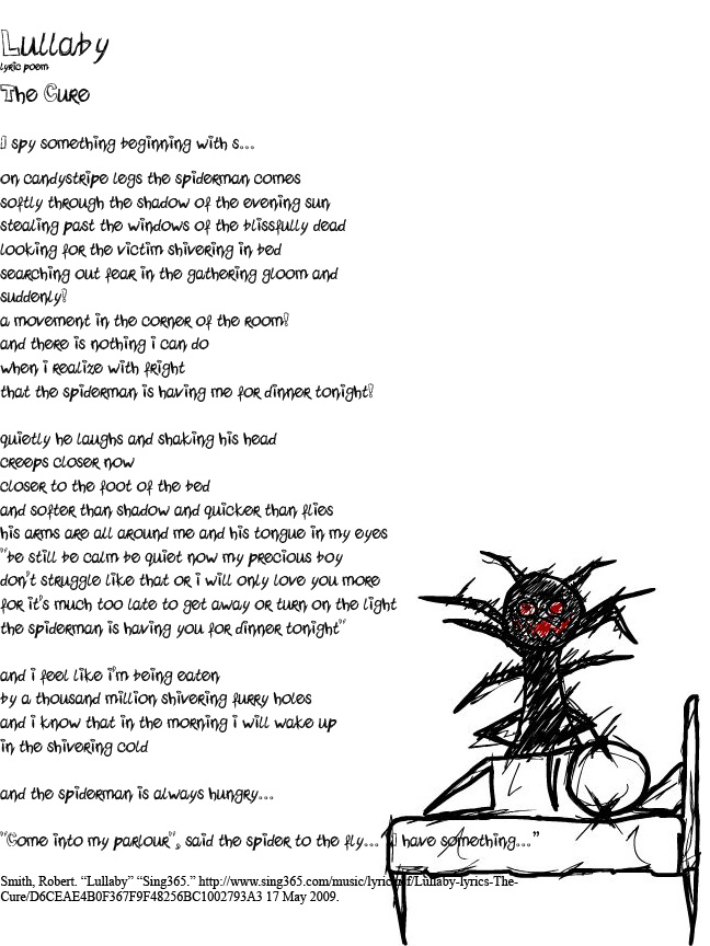 Lullaby- The Cure -poem- by K2G on DeviantArt