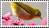 Japanese White-eye Stamp by fifilis