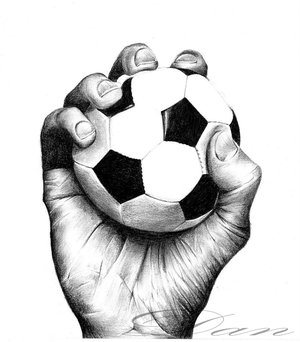 hand_holding_soccerball by TheArtsClub