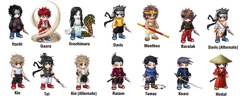 naruto characters 2 gaia by davepaton on deviantart