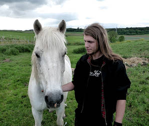 me and the horse.