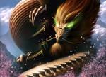 Togashi Satsu, Dragon Clan Champion by SteveArgyle