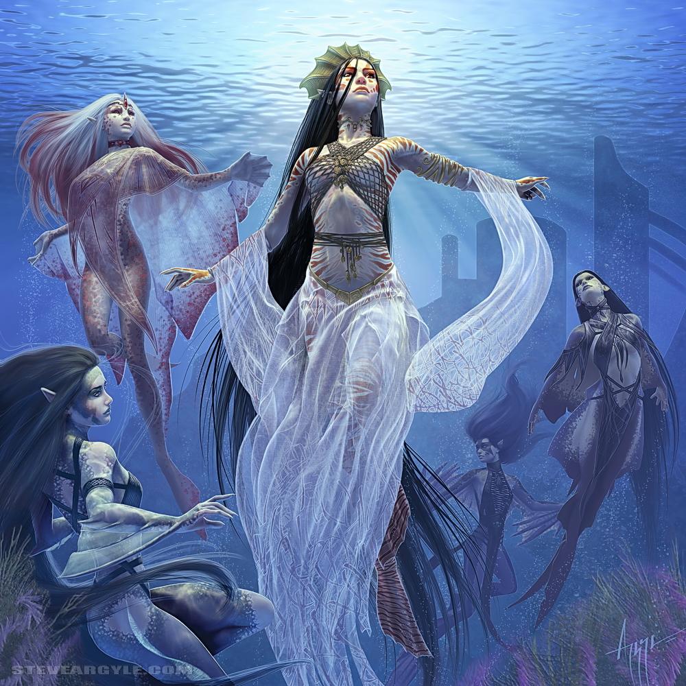 Raza: Sirenas/Tritones Thalaasa__Ocean_Queen_by_SteveArgyle