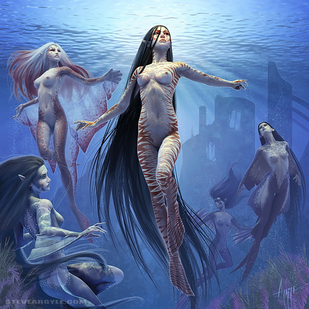 Mermaid fantasy sex nsfw scene