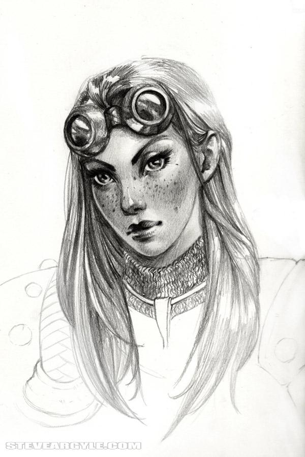 Chandra Nalaar con sketch by SteveArgyle
