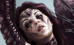 Sad Angel Detail by SteveArgyle