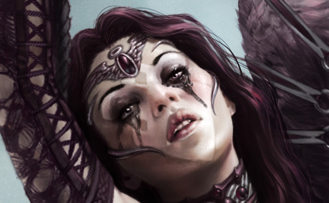 Sad Angel Detail by SteveArgyle