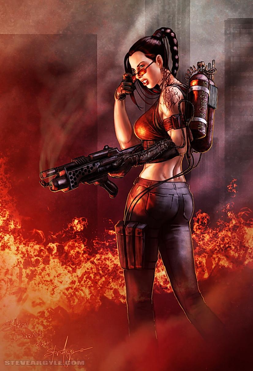 Zombie Hunter Heather By Steveargyle