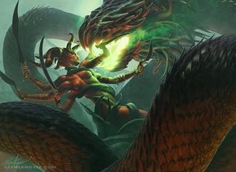 Kali Ma vs Fu Leng by SteveArgyle