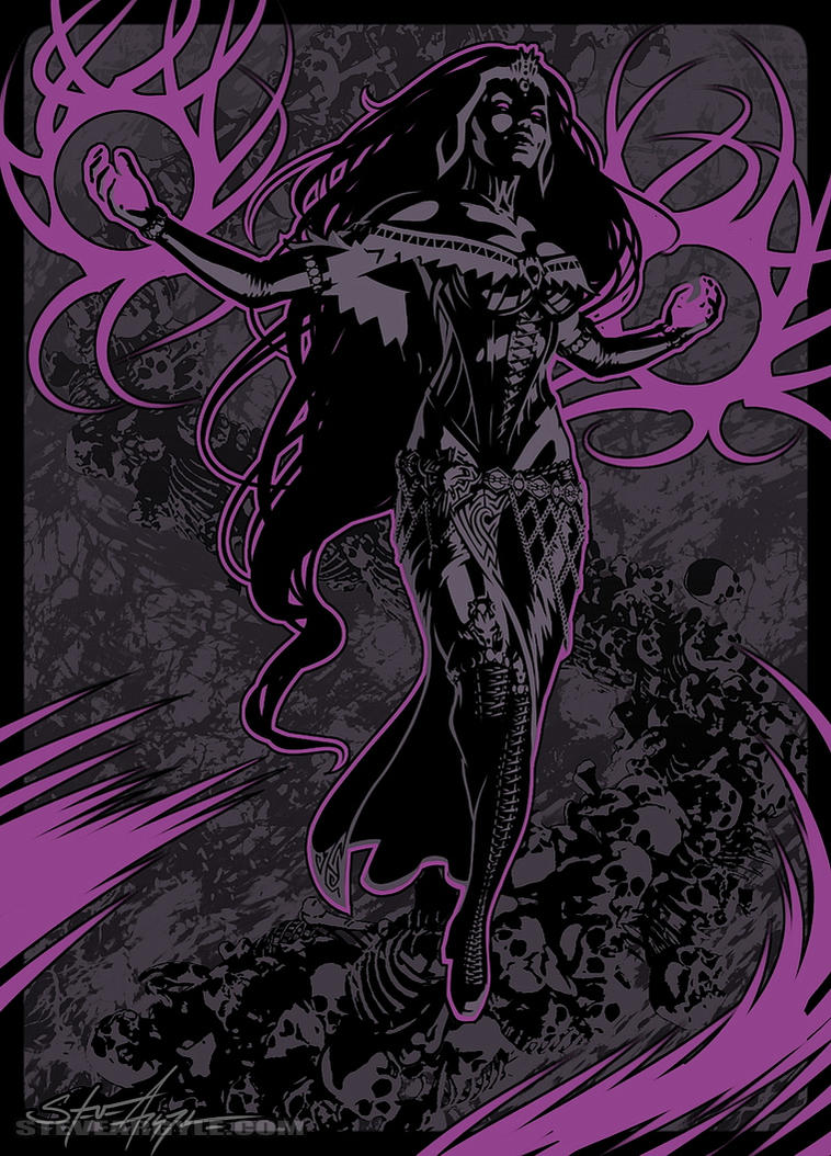 Liliana of the Veil: Black on Black by SteveArgyle
