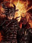 Darth Krayt and Wyyrlock by SteveArgyle