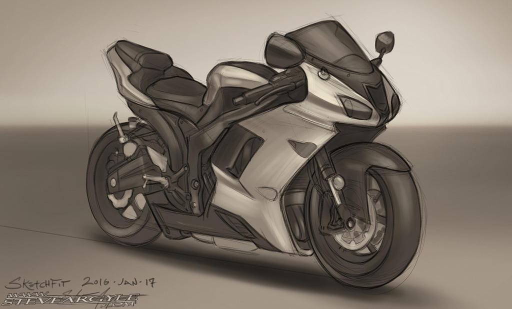SketchFit!  Kawasaki Ninja by SteveArgyle