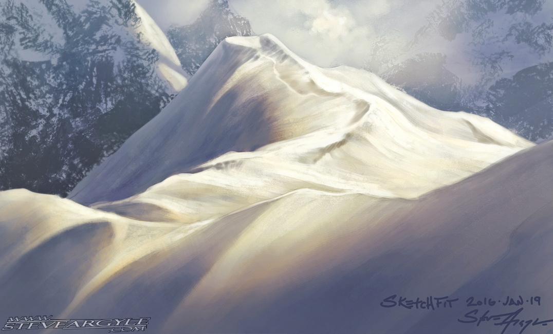 SketchFit!  Snowy peak. by SteveArgyle
