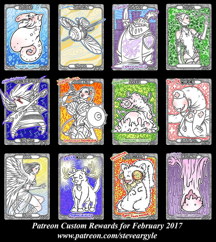 Patreon Custom Rewards Feb2017 by SteveArgyle