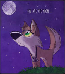 You are the moon... by Baltra