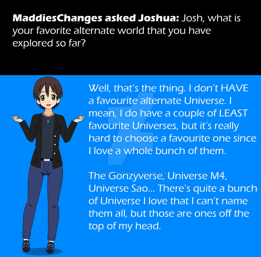 Questions and Answers - Answer #8 by JoshSavage007 on DeviantArt