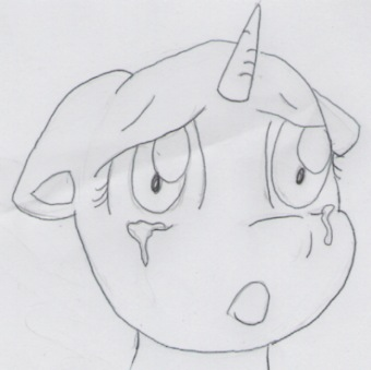 Free sad pony face by BiaApplePie
