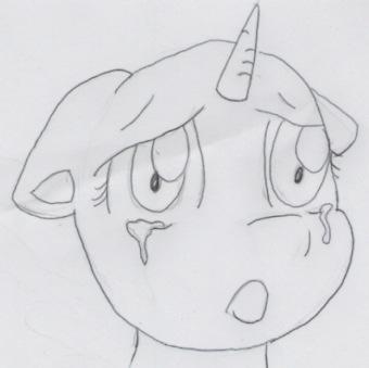 Free sad pony face by BiaApplePie