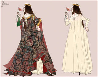 Medieval royal lady - Dress consept
