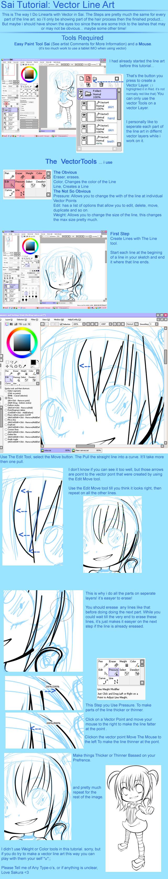 Line Art Sai : Sai tutorial vector line art by sakurachan on deviantart