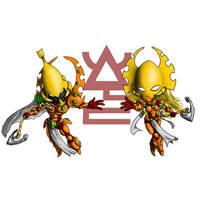Chibi Dragons by razorsteel