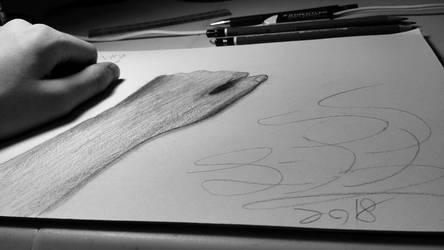 Hand Study by ThreeDeeDeemon