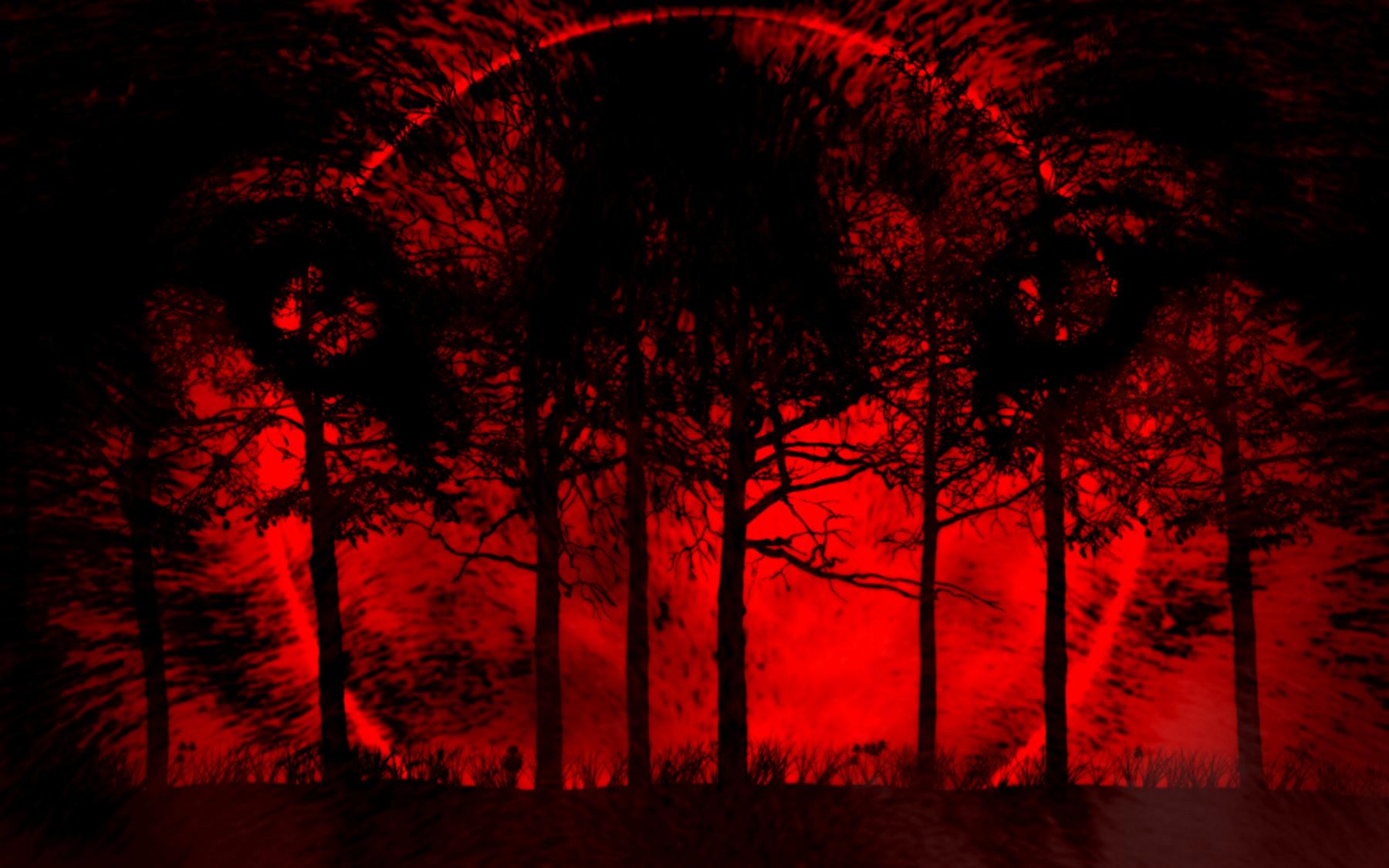 bloodred moon by amberwolffang4 on deviantart
