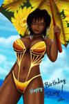Sunflowers in the Sunlit Summer Sky