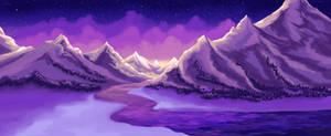Winter Mountain Background