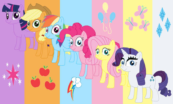 My Drawing of The Mane Six