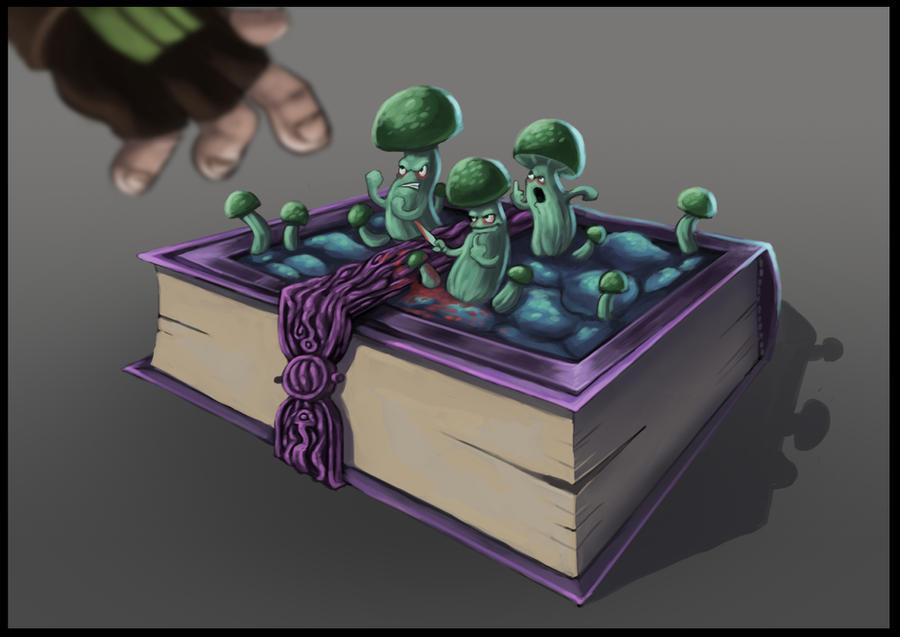 Concept-Art RPG Challenge - Day 9 - Magic Book