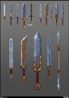 Knight swords concept by De-Prime