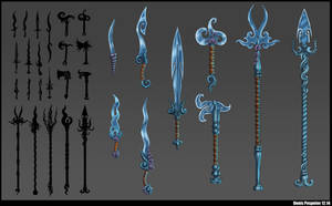 Aquatic weapons concept by De-Prime