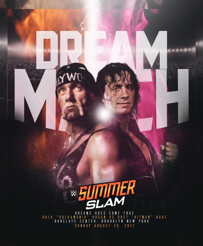 DreamMatch-SummerSlam17 Hulkamania vs Hitman by tsgraphics