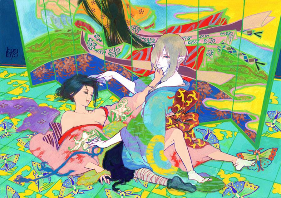 Kusuriuri and Kayo by okurina
