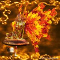 Magic Autumn Fairy by fairyfreakster