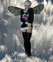 Fairy in snow by fairyfreakster