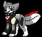 A skeleton dog