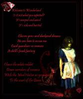 Dark Wonderland Visual Poetry by ScarletRainxX