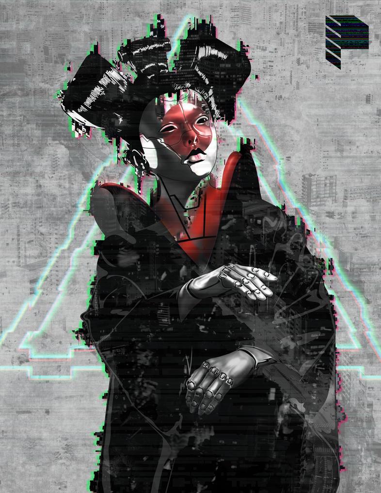 Ghost in the Shell fan art by fineapaulworks