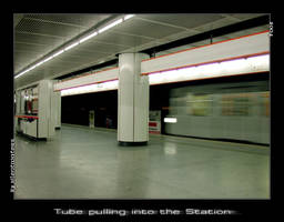 Tube pulling into the Station by Silentwaters