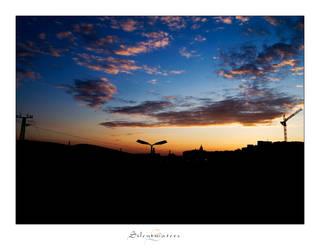 Industrial Sundown by Silentwaters