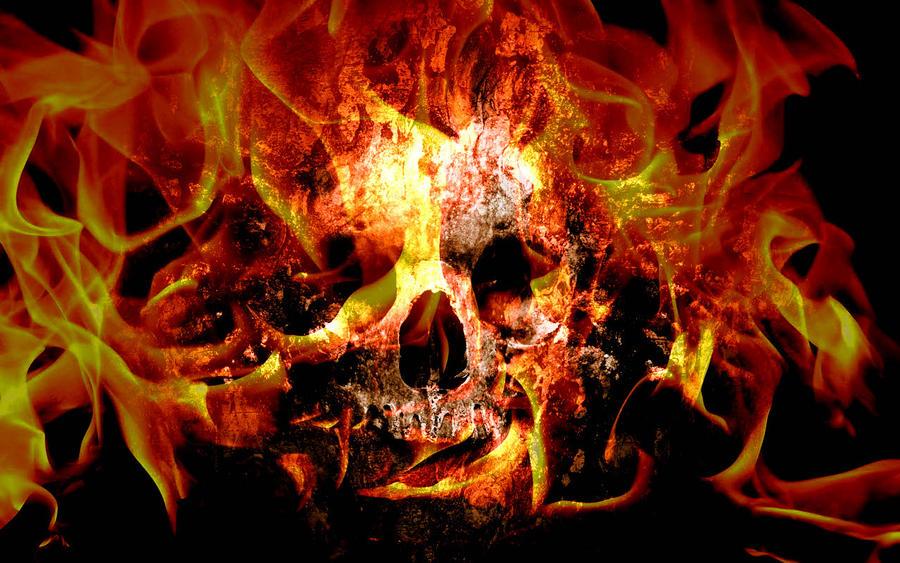 Skull on fire by sockdpoof on deviantart skull on fire by sockdpoof voltagebd Choice Image