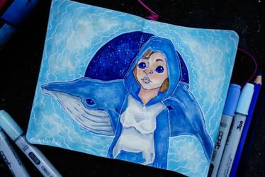 A blue whale... by elizabetezv