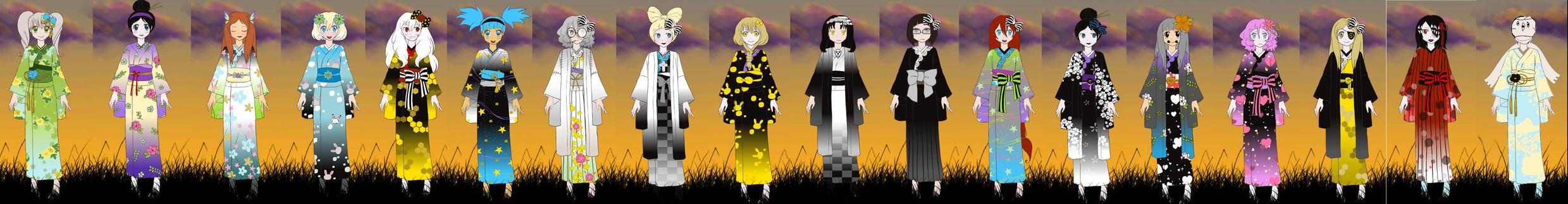 Soul Eater Kimono Girls by samfly02mim