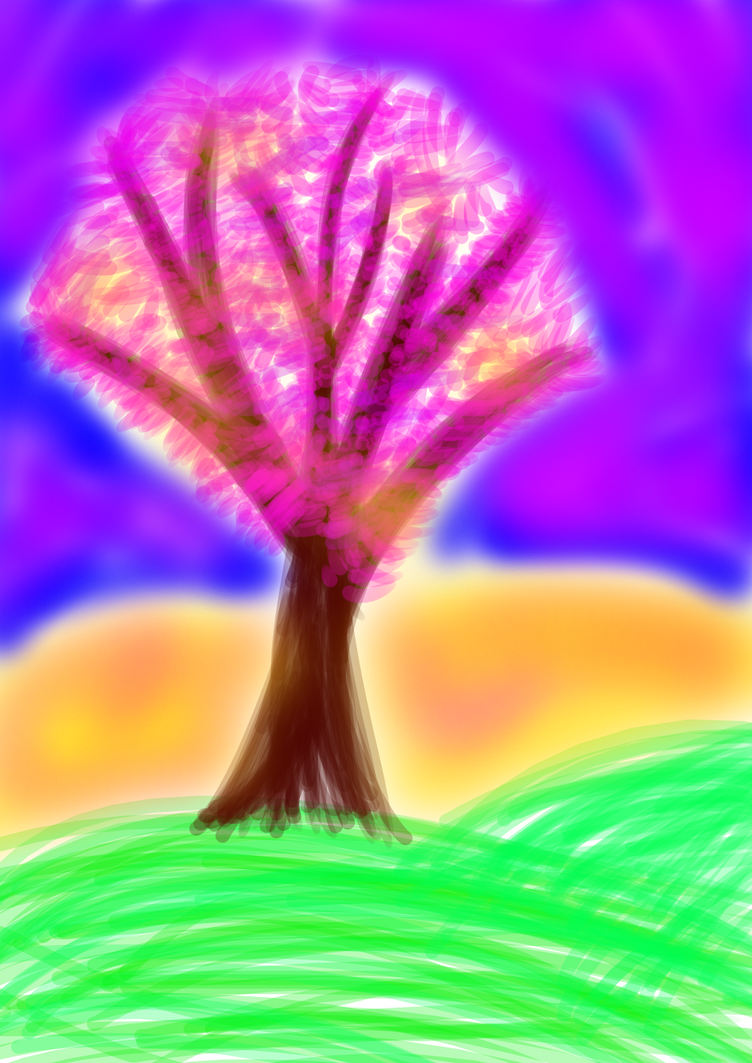 A Sunset Tree by Soshadilver