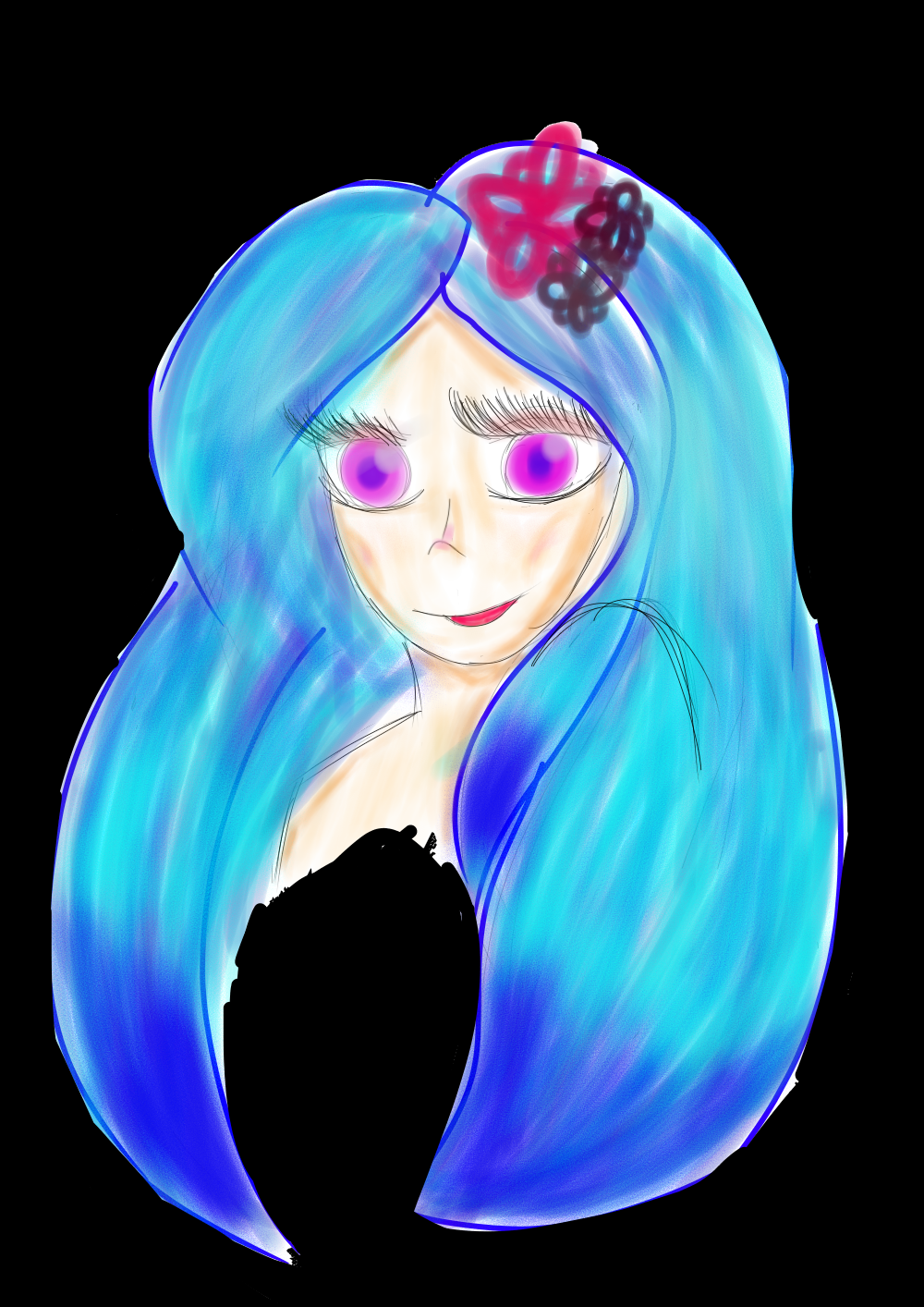 Blue-haired Girl by Soshadilver