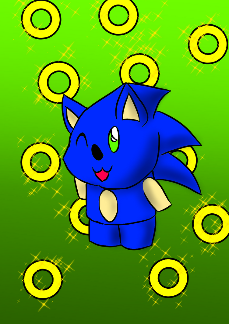 Chibi Sonic by Soshadilver