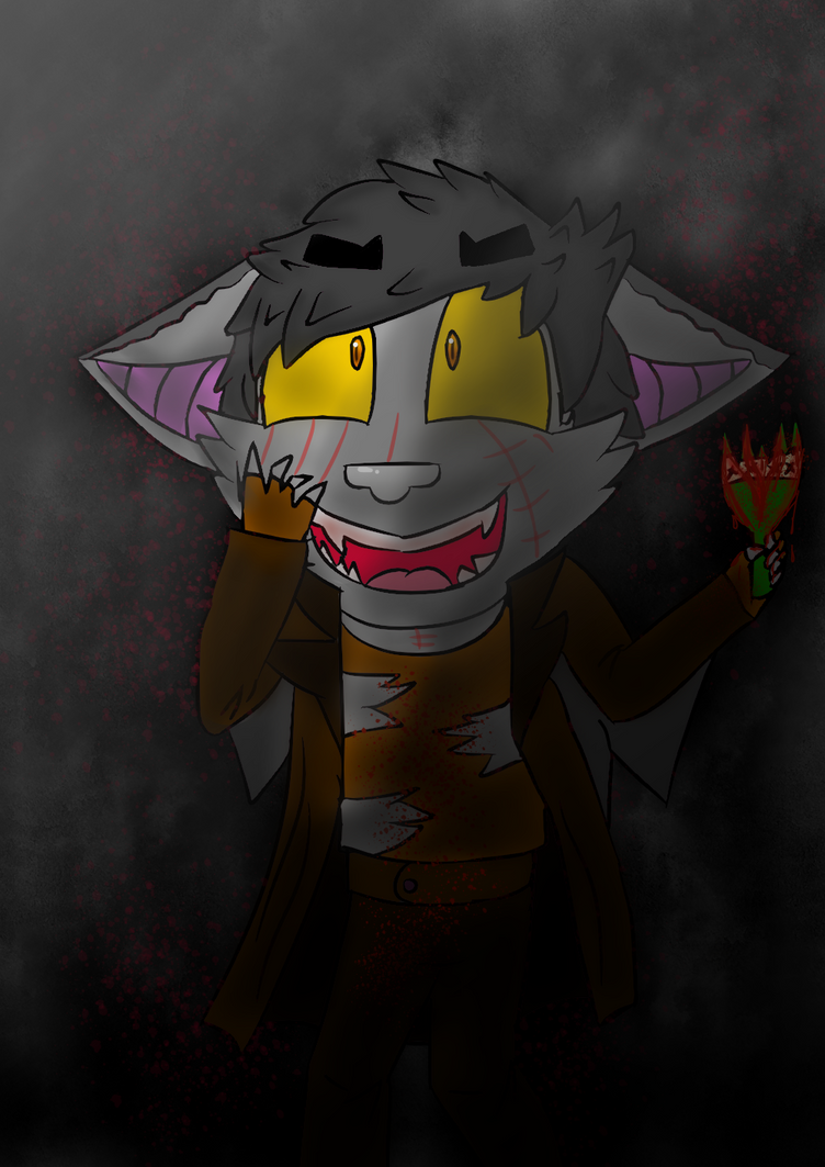 Request #1 Silver the Norm and Vampire Bat Hybrid by Soshadilver
